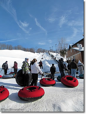 Snow Tubing, Woodbury Ski Area, CT