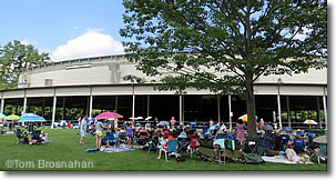 Boston Symphony Orchestra concert at Tanglewood Music Festival, Lenox MA