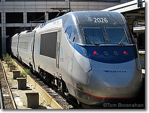 Amtrak Acela Train, Boston MA