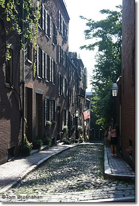 Acorn Street, Beacon Hill, Boston MA