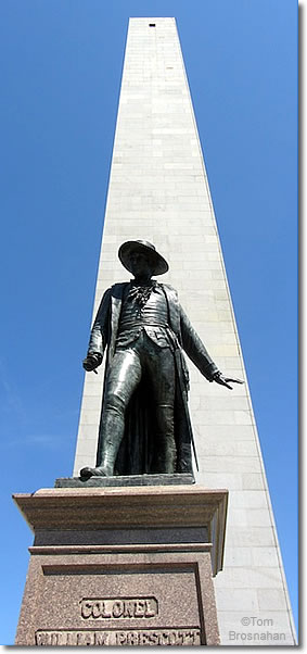 Bunker Hill Monument & Colonel William Prescott Statue, Charlestown (Boston) MA