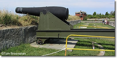 Cannon in Fort Warren, Georges Island, Boston MA