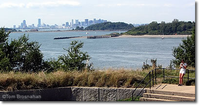 View of Boston from George's Island, Boston Harbor MA