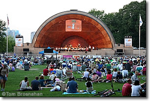 Concert at Hatch Shell, Charles River Esplanade, Boston MA