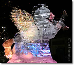 Pegasus Ice Sculpture, Boston MA