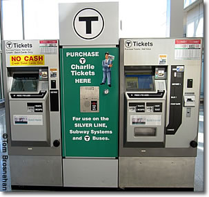 MBTA Ticket Machines, Logan Airport, Boston MA