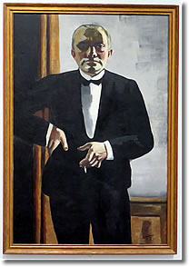 """Self-Portrait in Tuxedo"" by Max Beckmann, Harvard Art Museums, Cambridge MA"