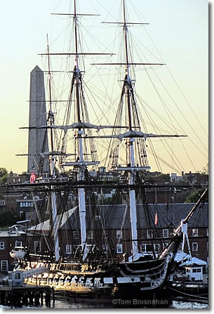USS Constitution (Old Ironsides) & Bunker Hill Monument, Boston MA