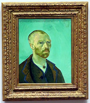 """Self-Portrait Dedicated to Paul Gauguin"" by Vincent Van Gogh, Harvard Art Museums, Cambridge MA"