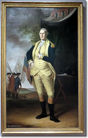 George Washington, by Charles Wilson Peale, Harvard Art Museums, Cambridge MA