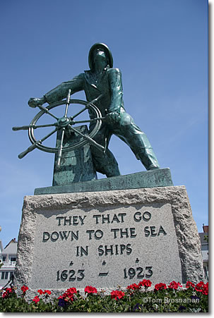 Gloucester Fisherman statue, The Man at the Wheel, Gloucester, Massachusetts