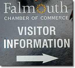 Falmouth Chamber of Commerce sign