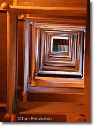 Inside the Pilgrim Monument, Provincetown MA