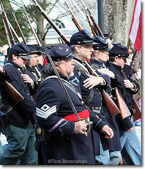 Civil War Re-enactors, Concord MA