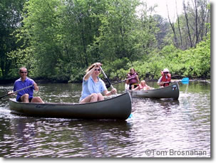 Canoeing on the Concord River, Concord MA