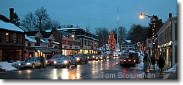 Main St, Concord MA in December