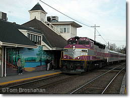MBTA Commuter Rail train at Concord MA
