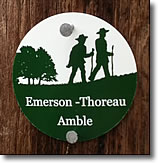 Emerson-Thoreau Amble Trail Marker, Concord MA