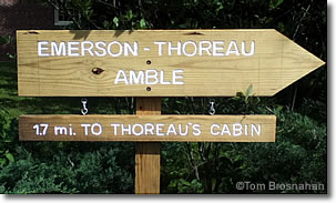 Emerson-Thoreau Amble sign, Concord, Massachusetts
