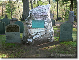 Ralph Waldo Emerson's tombstone, Sleepy Hollow Cemetery, Concord MA
