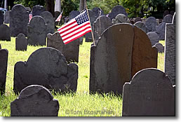 Flag on Colonial Grave, Concord MA