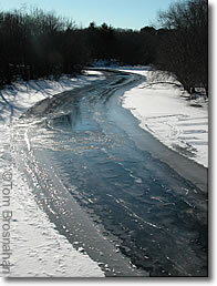 Half-frozen river, New England