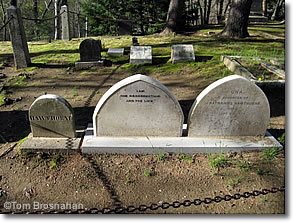 Hawthorne graves, Sleepy Hollow Cemetery, Concord MA