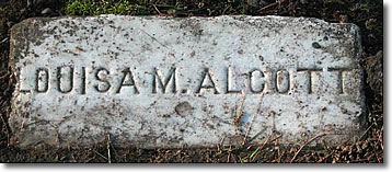Louisa May Alcott's Grave, Sleepy Hollow Cemetery, Concord MA