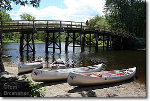 Canoes at Old North Bridge, Concord MA