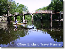 Canoe at Old North Bridge, Concord, Massachusetts