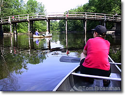 Canoeing at Old North Bridge, Concord MA