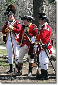 British redcoats, Patriots Day, Concord MA