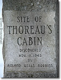 Site of Thoreau's Cabin Sign