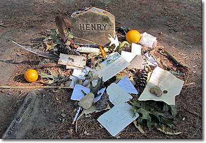 Henry David Thoreau's grave, Sleepy Hollow Cemetery, Concord MA