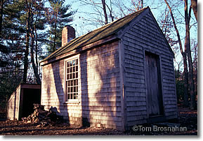 Replica of Henry David Thoreau's cottage at Walden Pond, Concord MA