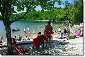Beach at Walden Pond, Concord, Massachusetts