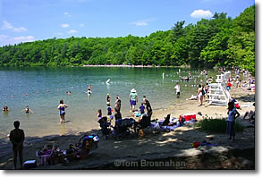 Beach at Walden Pond, Concord MA