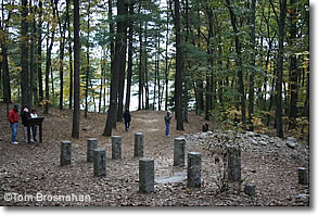 Site of Henry David Thoreau's house at Walden Pond, Concord MA