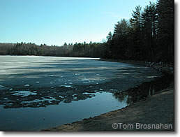 Walden Pond in Winter, Concord MA