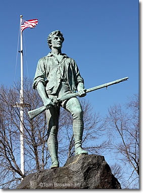 Minuteman Statue, Lexington MA