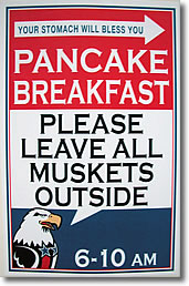 Pancake Breakfast - Please Leave All Muskets Outside