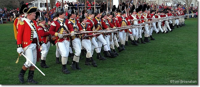 Redcoats attack on Lexington Green on Patriots Day