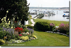 Garden & docks, Martha's Vineyard, Massachusetts