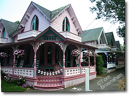 Victorian Gingerbread Houses, Oak Bluffs, Martha's Vineyard MA