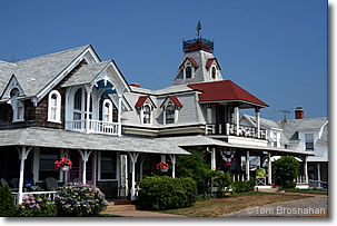 Victorian houses in Oak Bluffs, Martha's Vineyard, Massachusetts