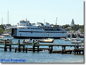 Car ferry m/v Eagle at Steamboat Wharf, Nantucket, Massachusetts