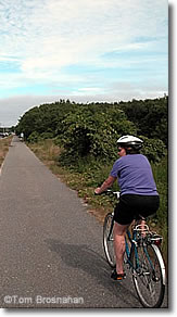 Riding the bikepaths on Nantucket Island, Massachusetts