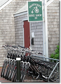 Bicycles for rent on Nantucket Island MA