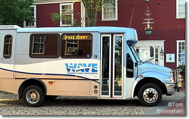 WAVE bus on Nantucket Island, Massachusetts