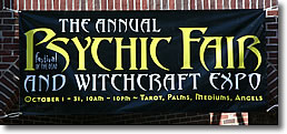 Psychic Fair Sign, Salem MA